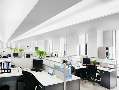 Indirect LED Lighting in Office