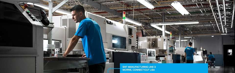 SMT Manufacturing Line 3 – Morris, Connecticut USA